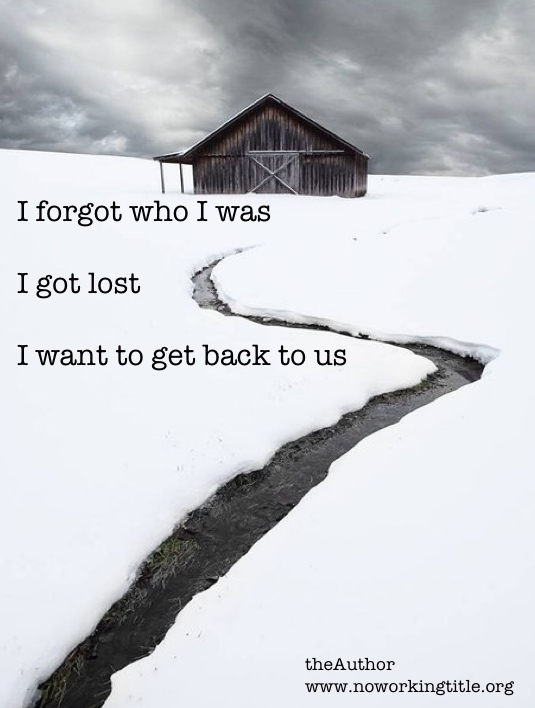 I forgot who I was I got lost I want to get back to us
